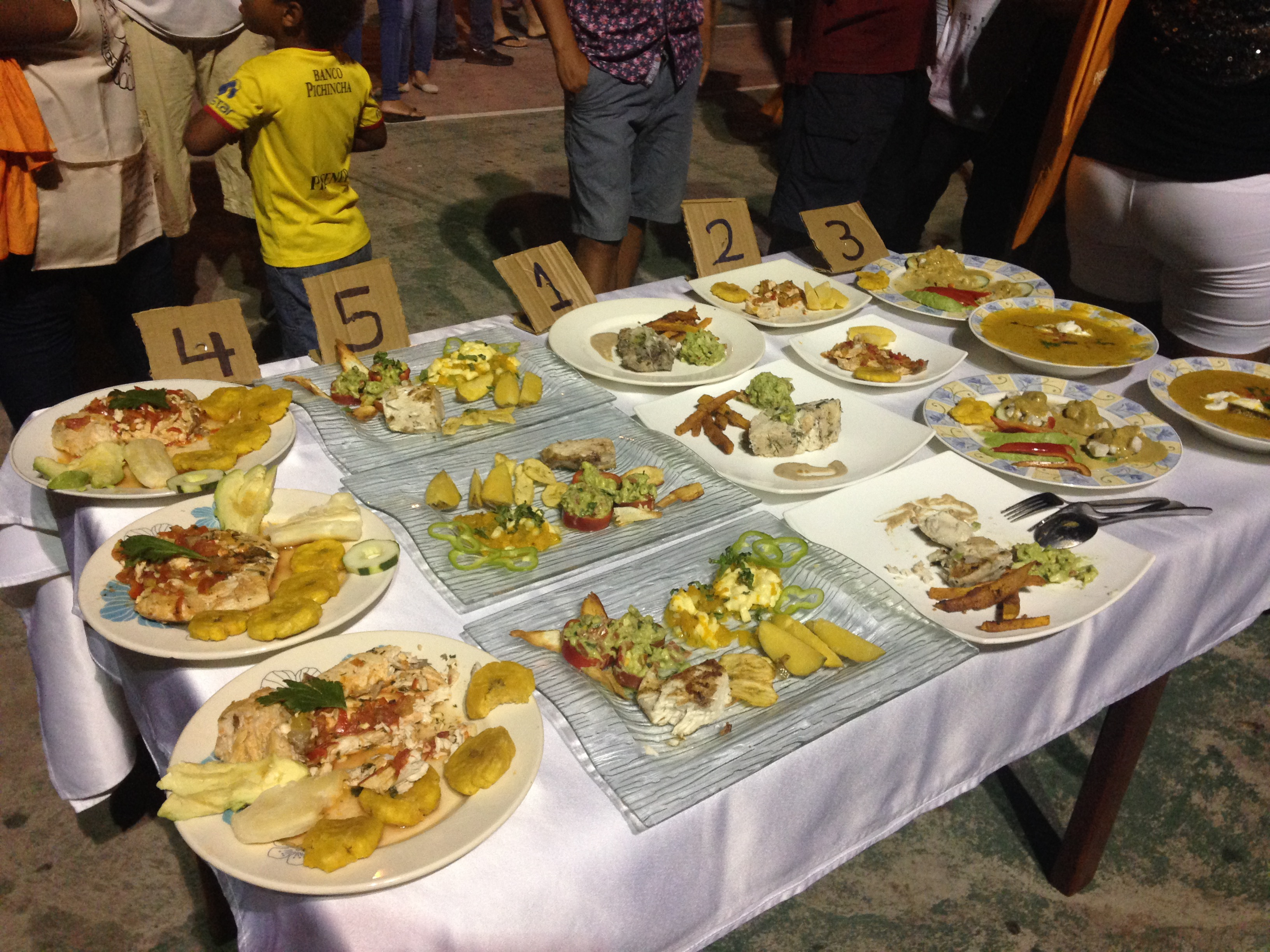 Cooking competition entries